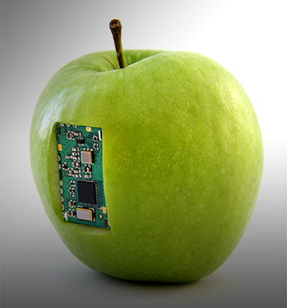 mother board in green apple