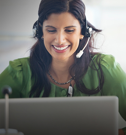 Woman smiling video call on laptop
