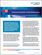 Realizing the Benefits of Data Modernization - NTT DATA Perspective