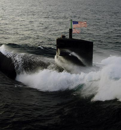 US Navy Submarine in the ocean