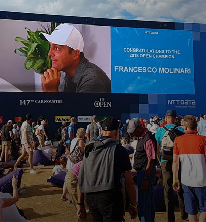 NTT DATA Wall at 147th open