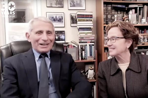Dr Fauci and his wife