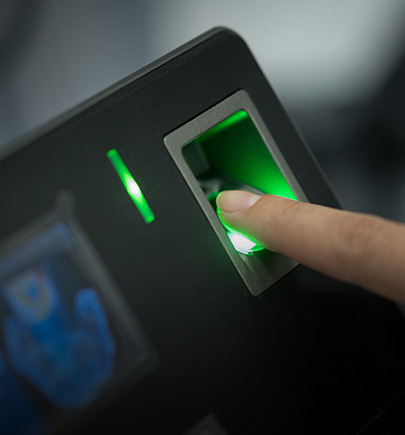 security screening touch pad